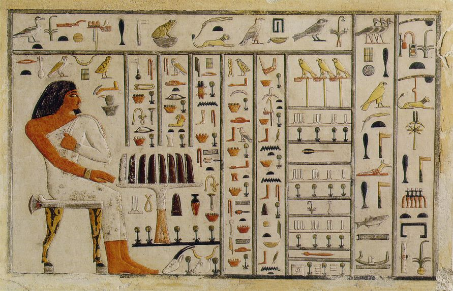 book of the dead in hieroglyphics