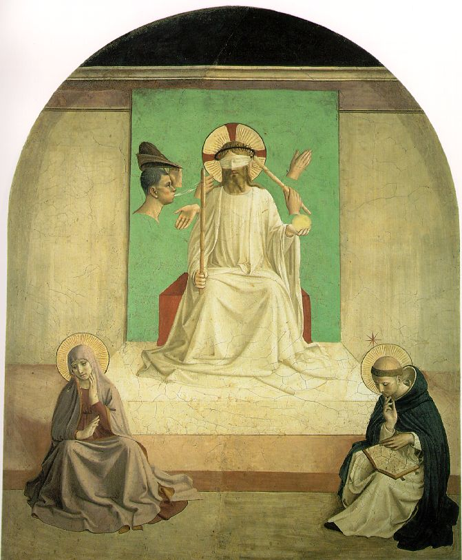 Fra Angelico: Mocking of Christ with the Virgin and Saint
