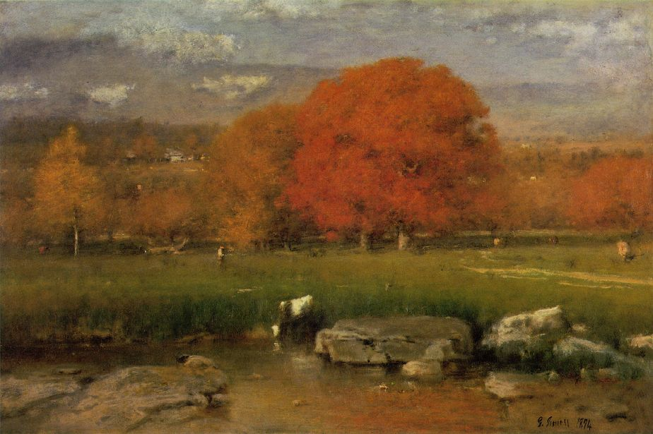 George Inness' Red Oaks