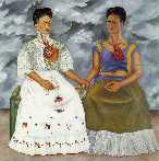 Self-Portrait as the Two Fridas