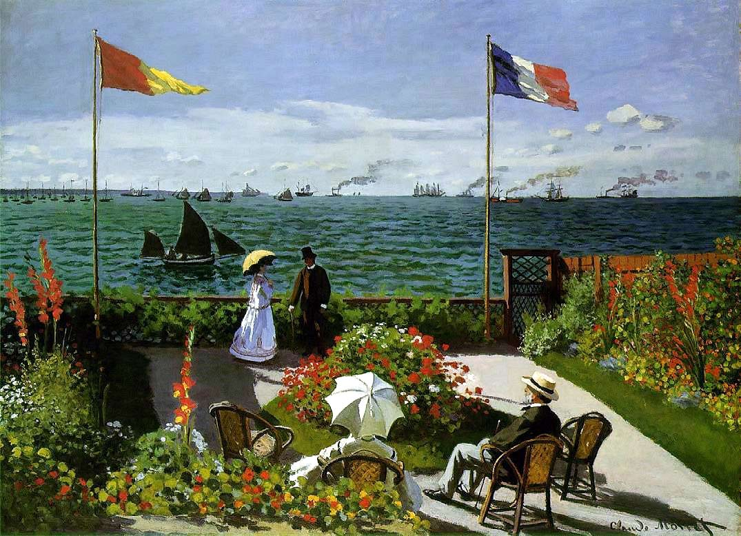 Image of Monet's painting 'Garden at Sainte-Adresse'