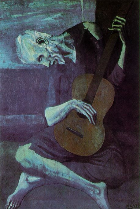 Pablo Picasso The Old Guitarist Painting Analysis