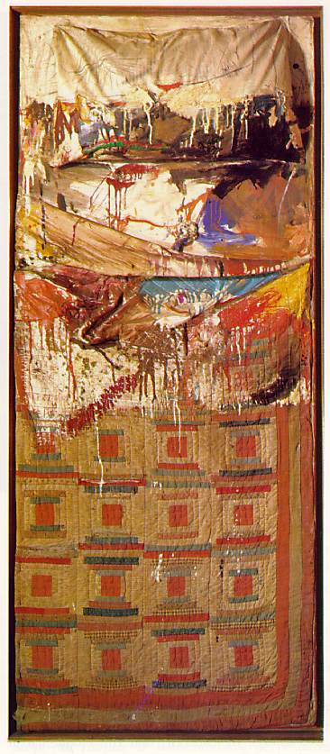 Robert Rauschenberg. Bed,1955. Combine painting. 191.1 x 80 x 20.3 cm. New York, collection of Mr and Mrs Leo Castelli.
