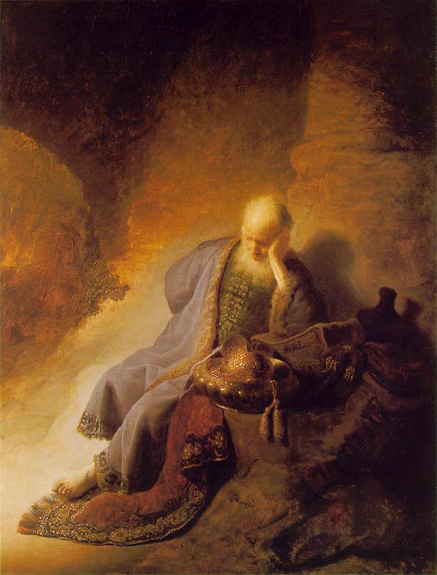 Rembrandt: Jeremiah lamenting the destruction of Jerusalem