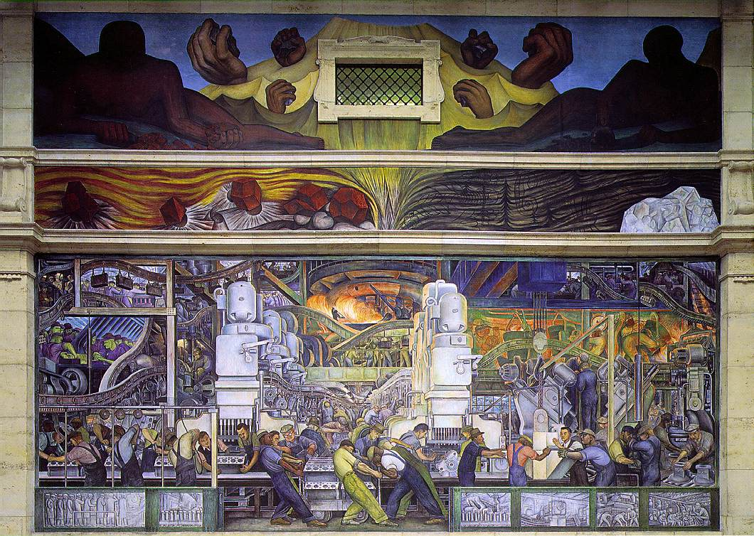 Rivera diego detroit industry north wall for Diego rivera mural detroit institute of arts