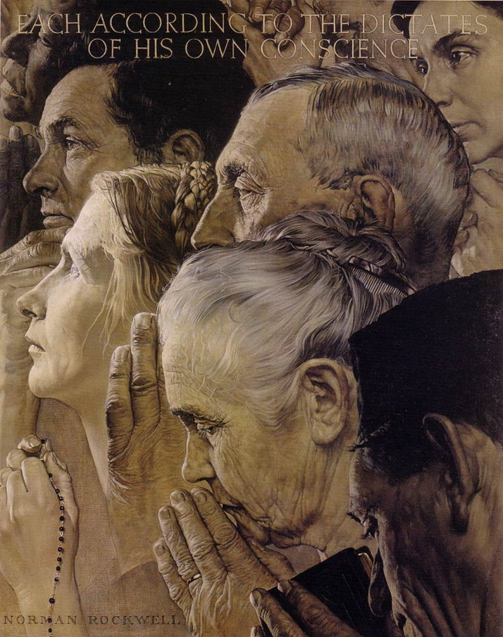 Norman Rockwell's Freedom to Worship