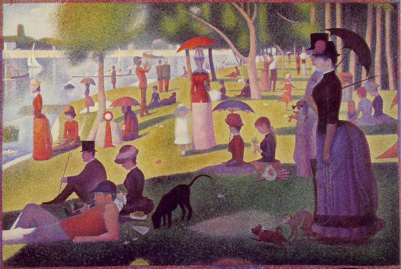 A Sunday Afternoon on the Island of La Grande Jatte(1884-86) de Georges Seurat