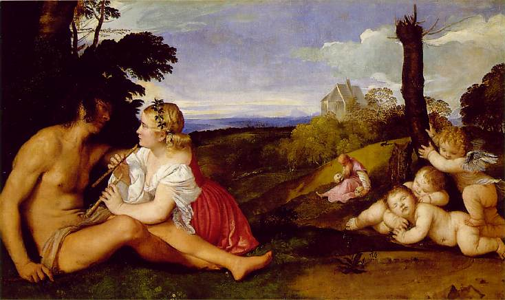 a review of the three ages of man a painting by titian Giorgione is regarded as a unique figure in the history of art: his three ages of man as the renaissance journey: giorgione,titian.