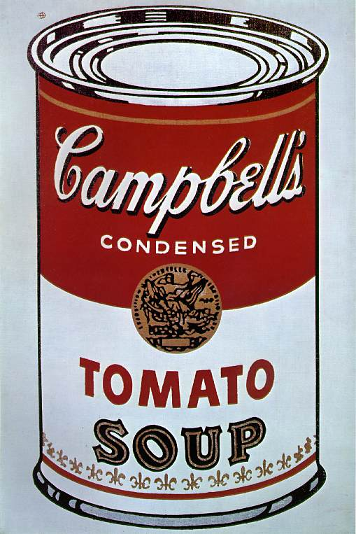 Campbell's Soup Can 1964 Silkscreen on canvas 35 3/4 x 24 in Leo Castelli Gallery, New York