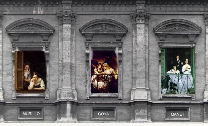 Balcony: Michelangelo, Murillo, Goya and Manet